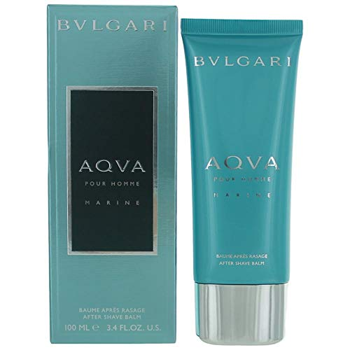Bvlgari Aqva Pour Homme Marine After Shave Balm for Men, 3.4 Fluid Ounce