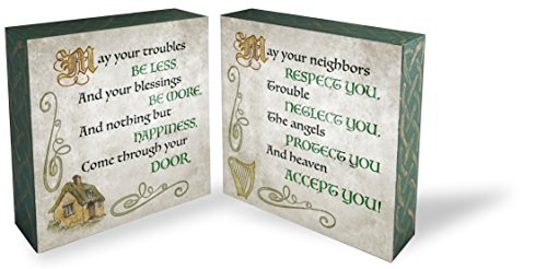 Irish Catholic Blessing - Cathedral Art Irish Blessings Two Sided Painted Block