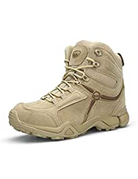 EDTara Mens Military Boots Outdoor Sport Training Shoes for Hiking Hunting Working Outdoor Activities,Anti-Skid and Breathable