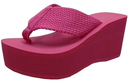 Cambridge Select Women's Comfy Platform Flip Flop Sandal (7 B(M) US, - Thong Platform Shoes