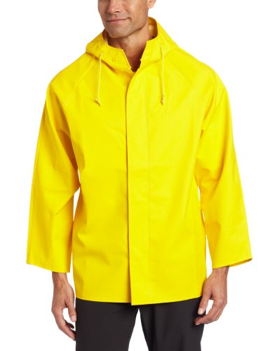 Dutch Harbor Gear Men's Quinault Rain Jacket, Yellow, Large -