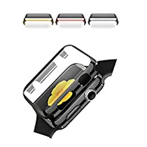 Apple Watch Case Black Full Cover PC Frame Skins with Protective Screen for Apple Watch 38mm iWatch
