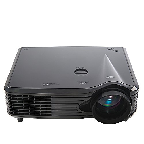 Portable Projector LCD LED Video Projector 800x480 2000 Lumen 1080P Full HD Home Theater Support HDMI VGA AV USB for Education Video Movie Bussiness Meeting