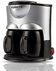 YUNSYE 2 كوب من صانع القهوة لتقديم القهوة لأكواب K-Cup Pod & بني داكن، صغير الحجم، تخمير سريع، تحكم قوي، وظيفة التنظيف الذاتي