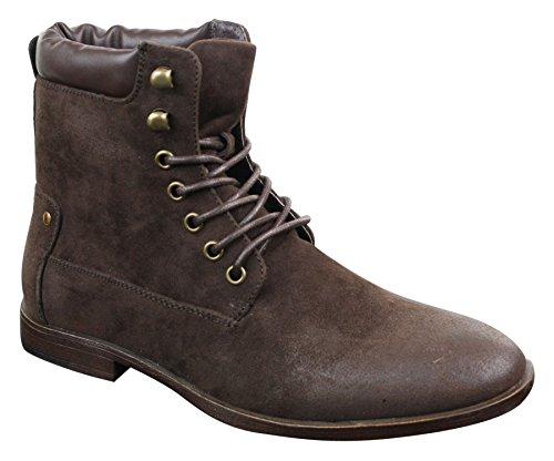 Stivaletti nabuk uomo scamosciata vintage stivali Brown Trend in da stile passeggio cowboy Galax a da pelle r0rw4q