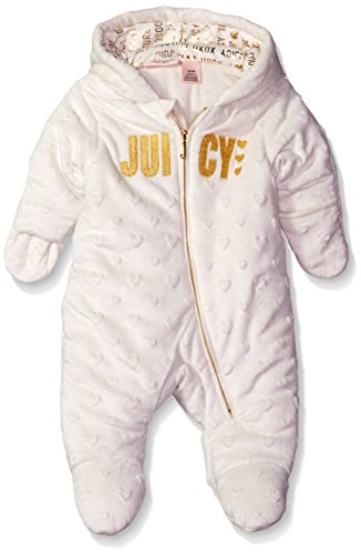 juicy-couture-baby-girls-embossed-silky-sherpa-hooded-pram-gold-6-9-months