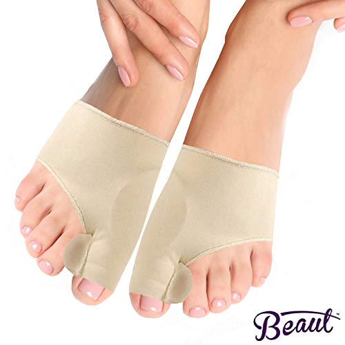 Bunion Corrector and Orthopedic Hallux Valgus Relief Splint Gel Bunion Pads Sleeves Brace - Toe Stretcher Bunion Guard for Men and Women Gel Toe Spacer, Toe Separator, Toe Spreader - Bunion Protector