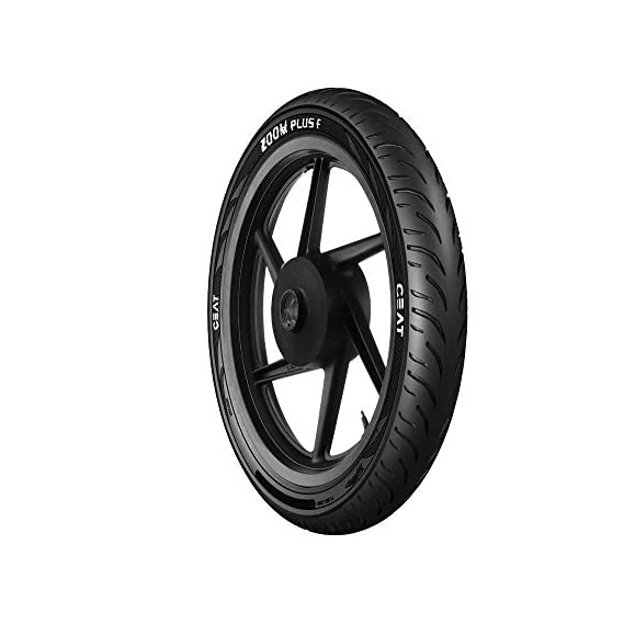 Ceat Zoom Plus F 100/80-17 52P Tubeless Bike Tyre, Front