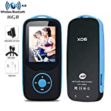 CCHKFEI MP3 Player with Bluetooth 16GB Portable MP3 Player Lossless Music Player with FM Radio Voice Record Expandable up to 64GB Micro SD Card