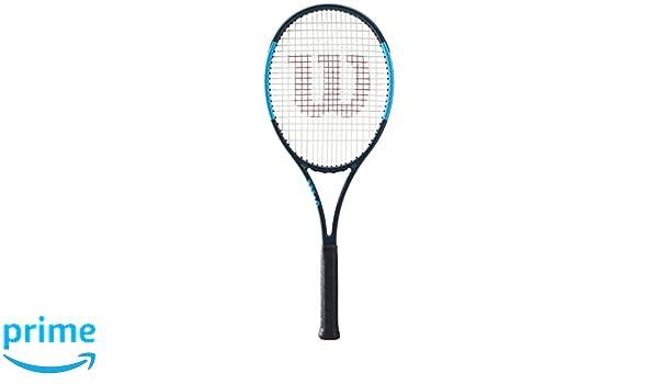 wilson ultra tour 18x20 black    blue tennis racquet strung