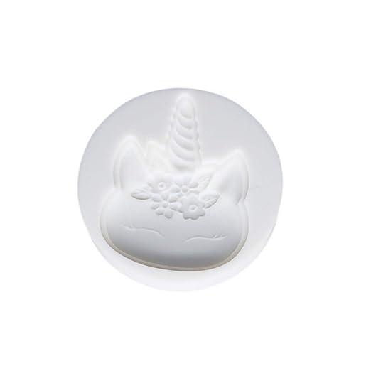 Torta del molde de silicona Ouken unicornio velas hechas a mano moldes DIY Ronda de silicio