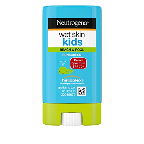 Neutrogena Wet Skin Kids Water Resistant Sunscreen Stick for Face and Body, Broad Spectrum SPF 70, 0.47 oz ()