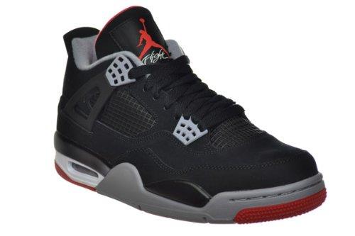 Air Jordan 4 Retro Bred Mens Basketball Sneakers BlacK/Grey/Red AA1I5zdQ1