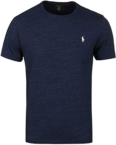 Polo Ralph Lauren Men's Classic Fit Solid Crewneck T-Shirt (Medium, Space Navy with White Pony) ()