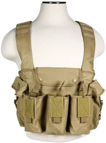 TAN VISM by NcSTAR 7.62 RIFLE CHEST RIG