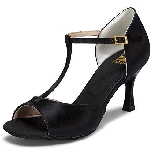 JIA JIA 20511 Damen Sandalen Ausgestelltes Heel Super-Satin Latein Tanzschuhe