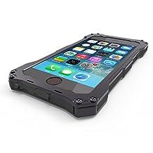 Iphone 5 Case [Aluminum Bumper] Iphone 5s Metal Case [Science Hybrid Premium Metal] Shockproof / Dust Proof Military Heavy Screen Protector Aluminum Case for Iphone 5s (Black)
