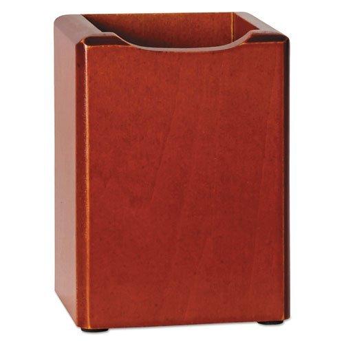 Rolodex Wood Tones Pencil Cup, Mahogany, 3 1/8 x 3 1/8 x 4 1/2 (ROL23380) - Pencil Tones Wood Cup