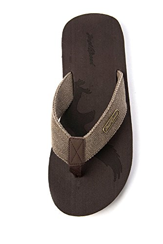 Gewoon Snelheid Herenvrijheid Adelaar Patriot Flip-flops Slide Op Sandalen Klassiek Cool Casual Chic Mode Alledaags Bruin