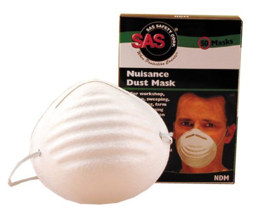 SAS Safety 2985 Non-Toxic Dust Mask 20 Boxes of 50, 1000 Masks (20-Pack) by SAS Safety (Image #2)
