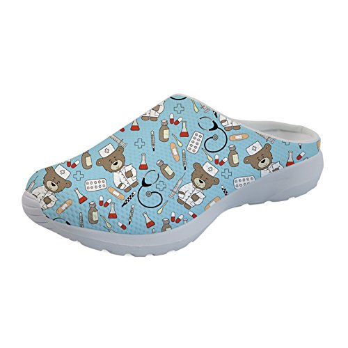 Cartoon Nurse Coloranimal Beach Printed Water Mesh Nurse Flats Printed Cute Summer Sandals 2 Breathable ApPxfq15wp