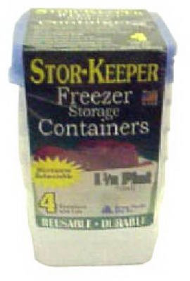 Arrow Home Products 00044 1-Quart Freezer Containers, 3-Pack