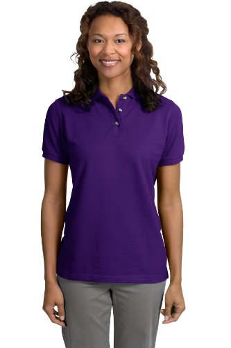 Port Authority Ladies Pique Knit Sport Shirt, 3XL, Purple