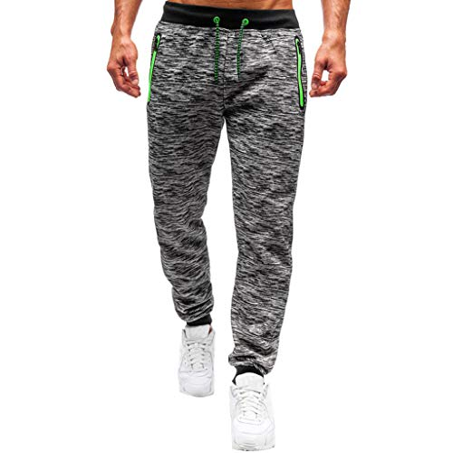 Mens Jogger Sport Pants Casual Gym Workout Sweatpants Pockets Marble Lounge Jogger Pant Drawstring Sportwear Gray