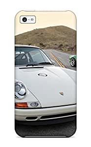 Defender Case For Iphone 5c, Singer Porsche 911 White And Green Supercar Road Cars Porsche Pattern
