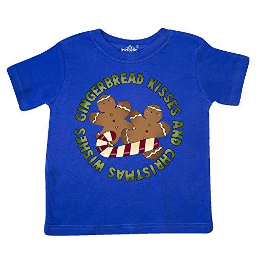 inktastic Gingerbread Kisses Toddler T-Shirt 5/6 Royal -