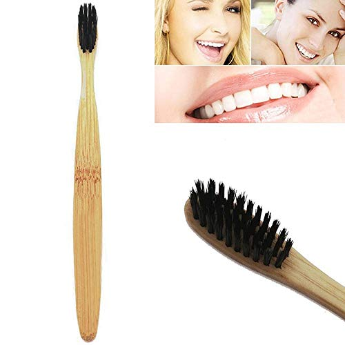 New 2019 Fashion Natural Environmental Protection Teeth Whitening Bamboo Handle Soft Toothbrush A