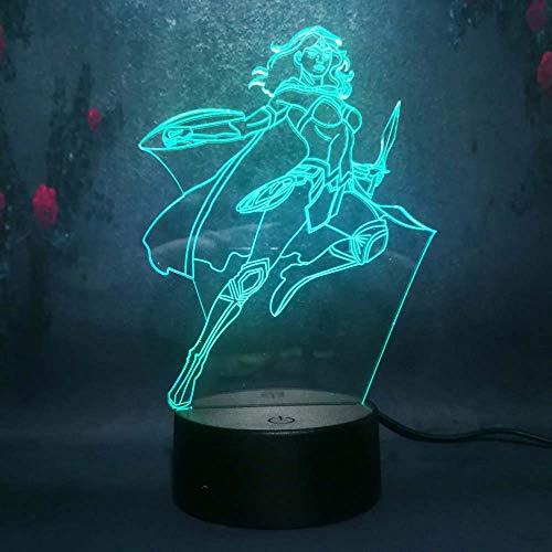 - Amroe Multicolor 3D LED Nightlights Marvel Avengers Heroes Series Wonder Woman Led 7 Colors Lamp Kids Night Light Toys Birthday Gifts Remote Touch Control Party Decoration Light Table Desk Lamp