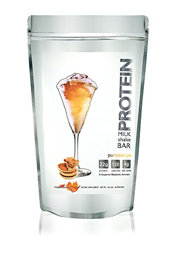 Protein Milkshake Low Carb Protein Powder - Pumpkin Pie 100% Premium Whey Protein, 15 Servings - 1.02LB