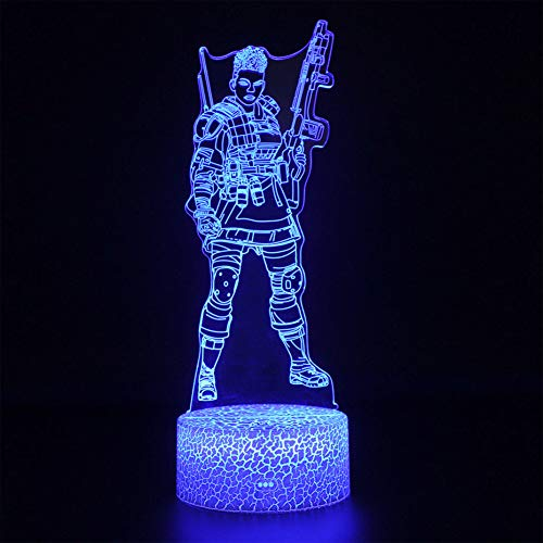 SproudNL Apex Legends Nightlight 3D Table Lamp Battle Royale Battle Led Night Light Illusion USB Touch Sensitive Light Apex Lamp