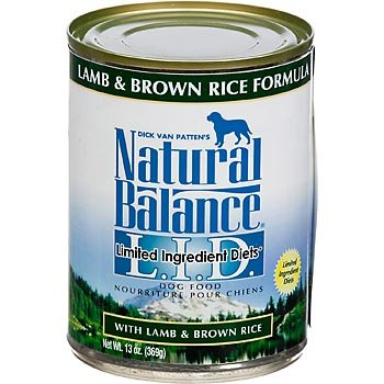 Natural Balance Limited Ingredient Diets Lamb and Brown Rice Formula Canned Dog Food, My Pet Supplies