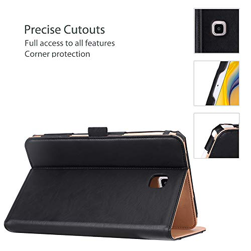 """ProCase Folio Case for Galaxy Tab A 8.0"""" 2018 Verizon Sprint SM-T387, Stand Case Cover for Galaxy Tab A 8.0 4G LTE Verizon/Sprint/T-Mobile/AT&T 2018 Release -Black"""