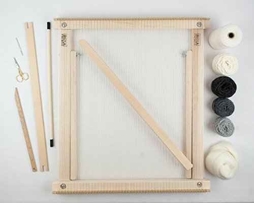 Beka Frame Loom with Stand Weaving KIT - Gray - The Deluxe! ()