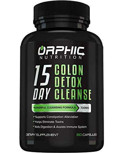 Colon Cleanser Detox for Weight Loss & Bloating Relief – 15 Day Fast-Acting Cleanse for Constipation Relief, Intestinal…