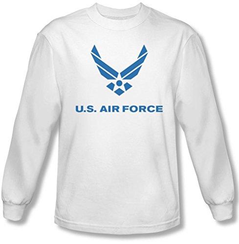 Longues Pour Air shirt Logo White Distressed À Hommes Manches T Force w80PxOq0H