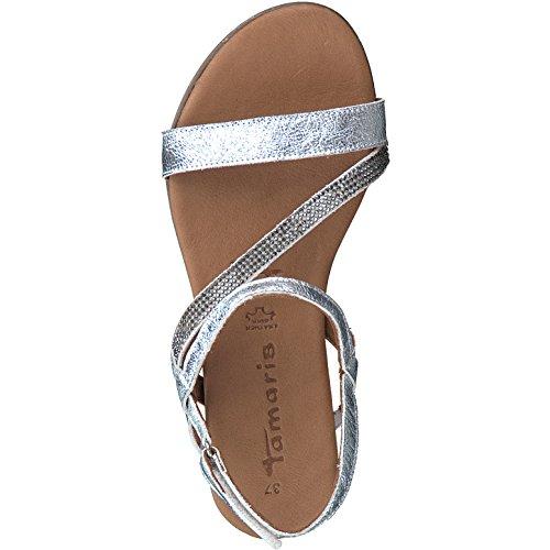 Ladies 941 Silber 28118 Sandal 20 Tamaris 1 Silver 1dCqwq8