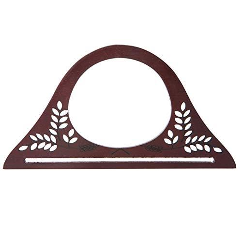 BHDSHCS Wood Handle Purse Frame Wooden Bag Handle DIY Handbag Accessories Chocolate
