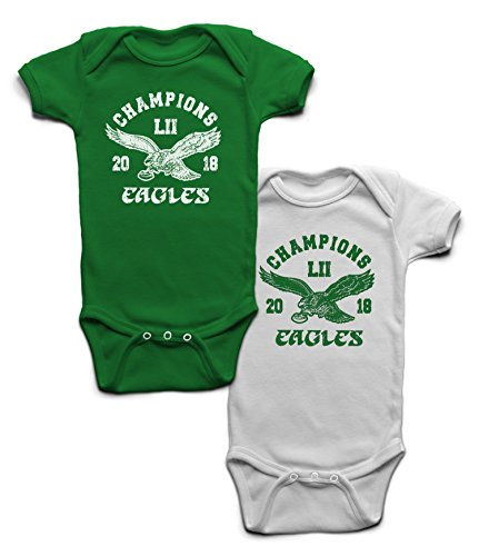 2017-2018 Eagles World Championship Little Fan! Onesie (2 Pack) - 12 Months by KonaTees (Image #1)
