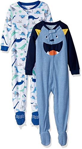 Monster Pajamas Toddlers (Carter's Boys' Toddler 2-Pack Fleece Pajamas, Monster/Dino,)