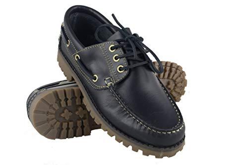 Zerimar Grandes de Azul Zapato Tallas Navy Náutico para Hombre para Náutico Piel Hombre rwrqp0URS