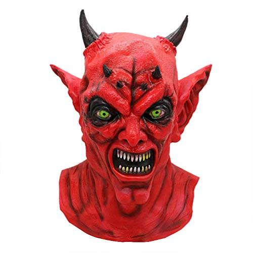 Horror Red Head Zombie Halloween Scary Mask Room Escape Haunted House Whole Person Props Latex Zombie Ghost Mask ()