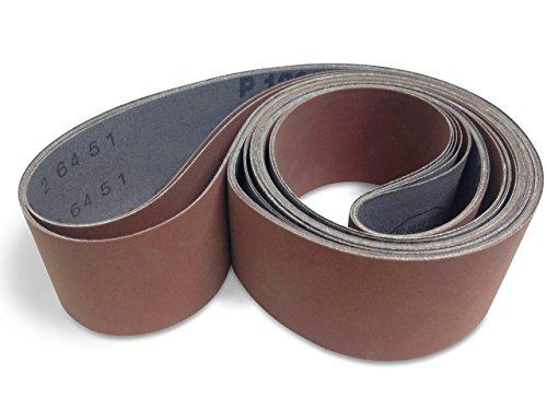 2 X 48 Inch 1200 Grit Flexible Aluminum Oxide Ultra Fine Sanding Belts, 6 Pack