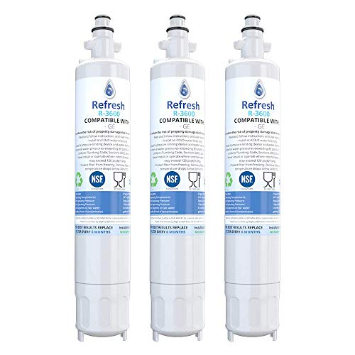 Refresh Replacement Refrigerator Water Filter for GE RPWF, R-3600; also compatible with FILTER models RWF1063, RWF3600A, RPWF, WSG-4 (does NOT fit RPWFE) – 3 Pack