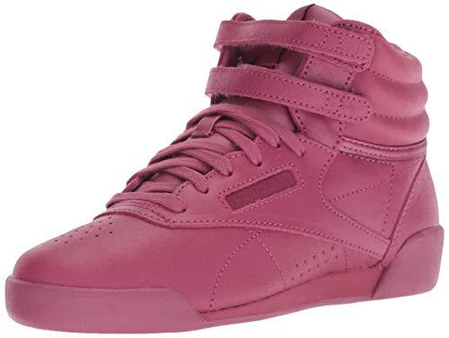 (Reebok Unisex Freestyle Hi Sneaker, face-Twisted Berry/White, 2.5 M US Little Kid)