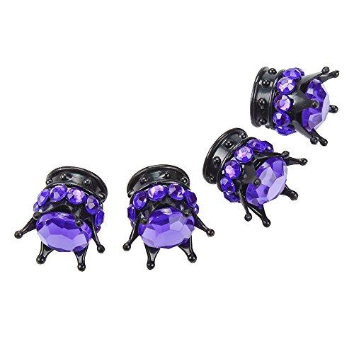 purple valve stem caps - 5
