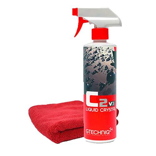 (Gtechniq C2v3 Liquid Crystal – Revolutionary Easy Spray-On Polish, Dirt Repellant, UV Ray Protection Glass-Like Finishing Shine – 500 ml + Free Marketus Group Microfiber Towel)